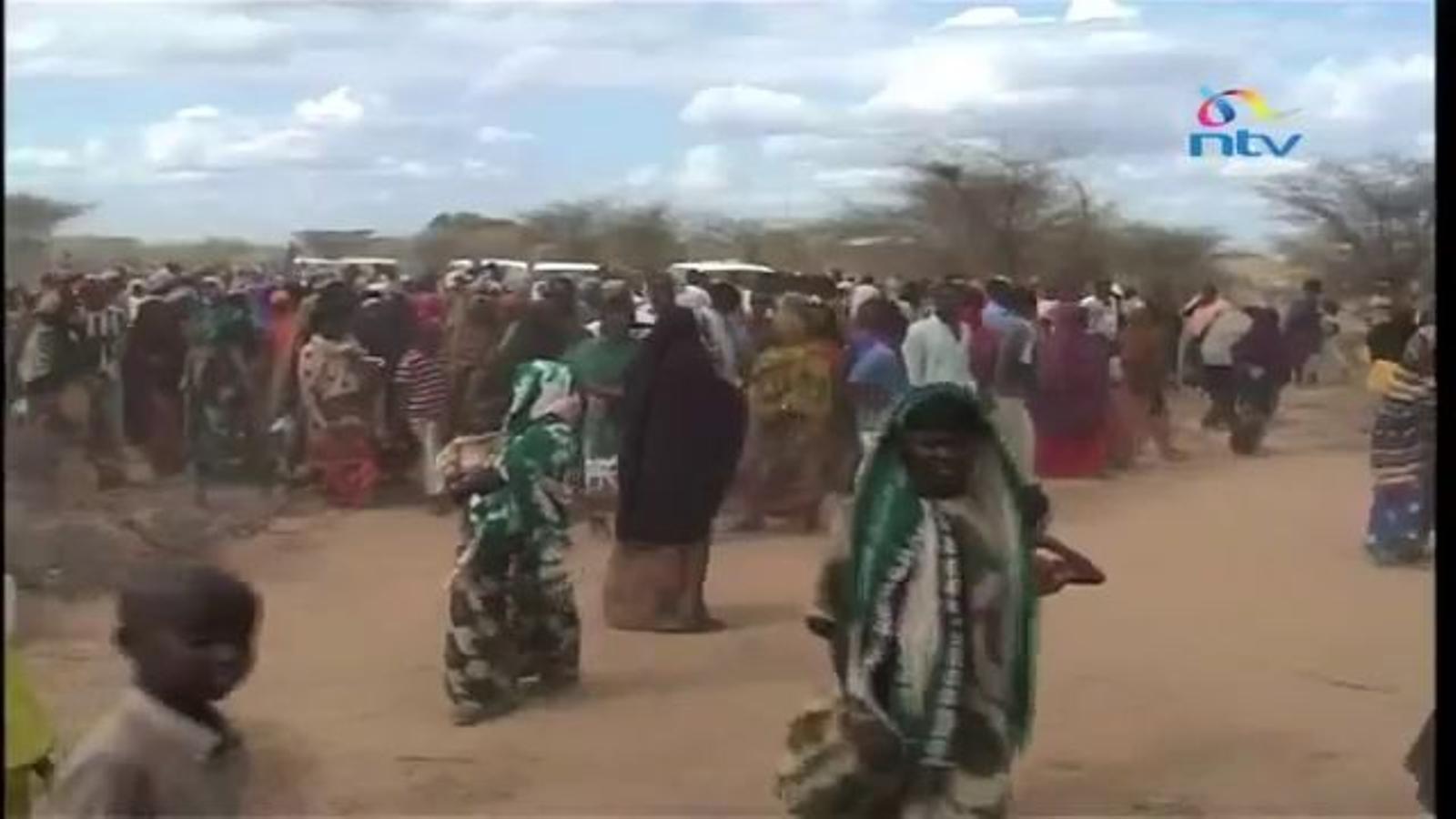 La notícia del segrest a la TV de Kènia