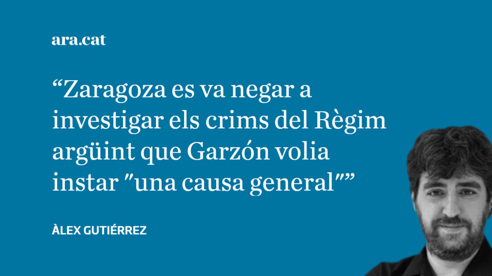 De quan el fiscal Zaragoza no creia en les causes generals