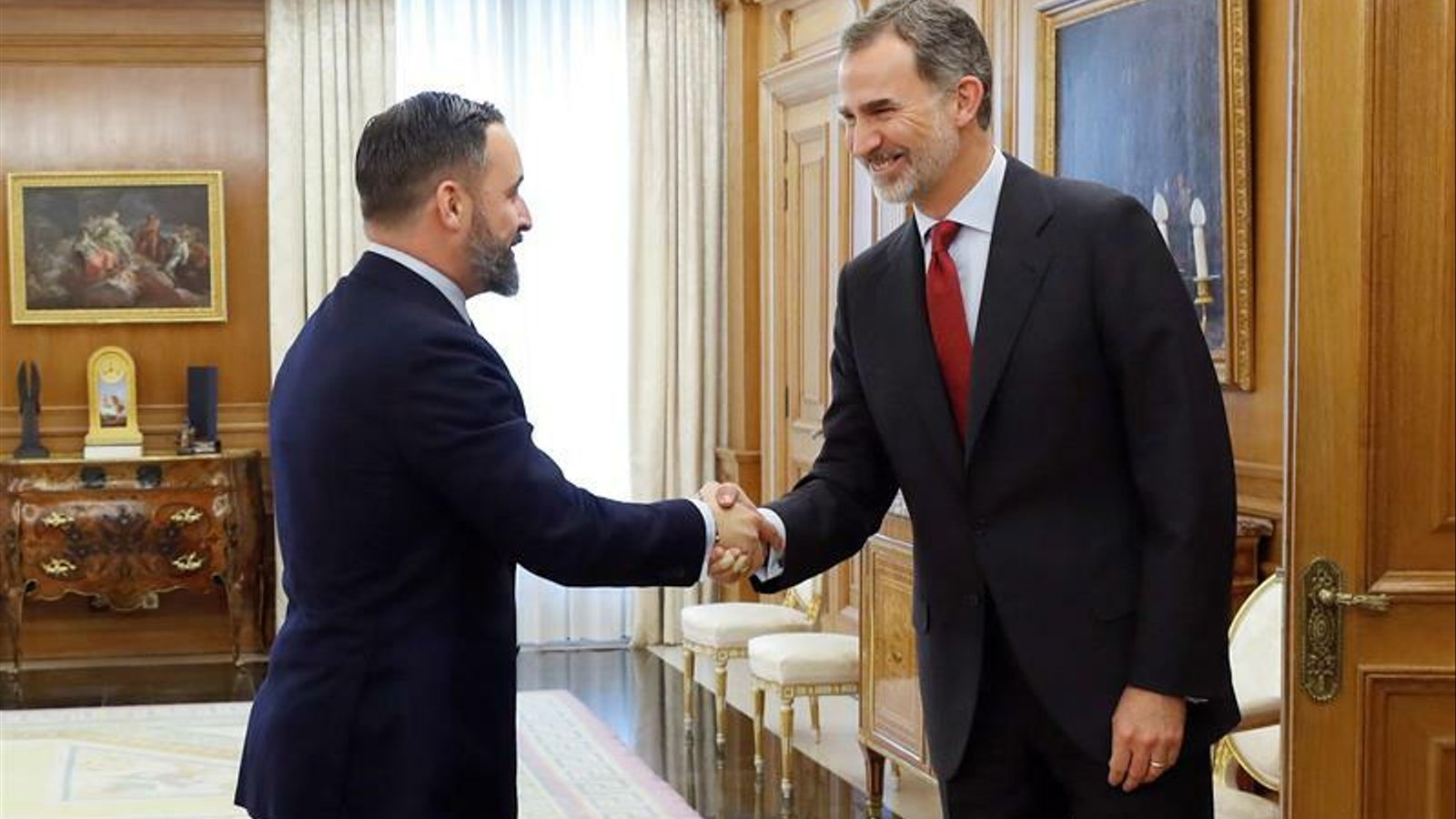 Santiago Abascal i Felip VI