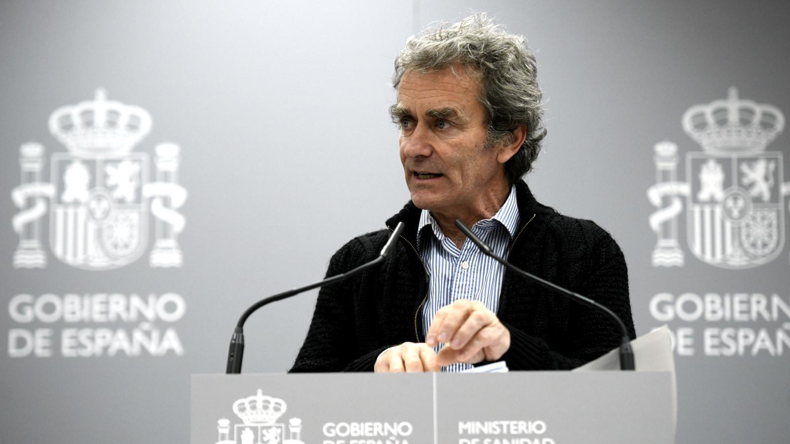 Roda de premsa del director del CCAES del ministeri de Sanitat, Fernando Simón
