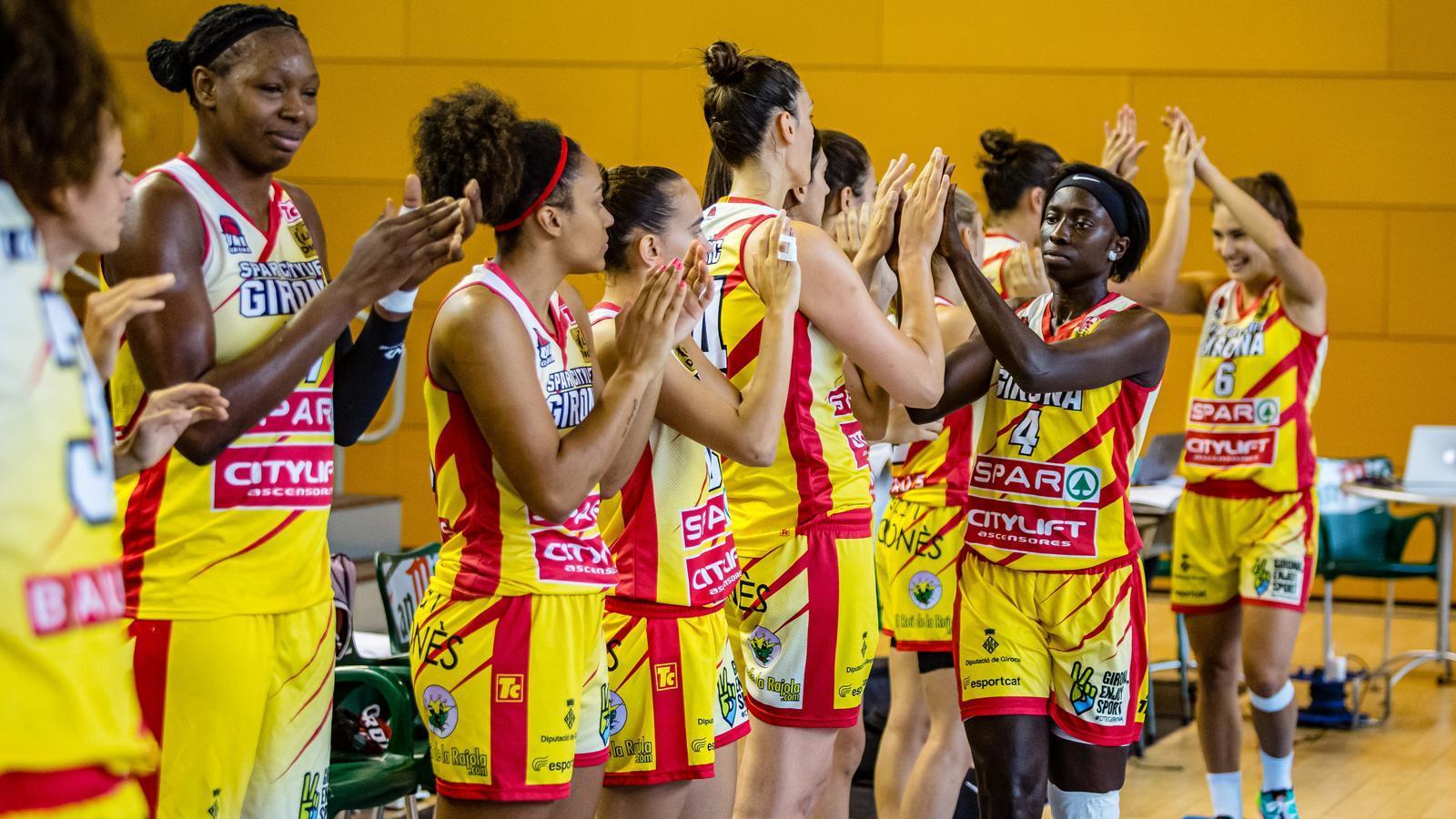Les jugadores de l'Spar Citylift Girona