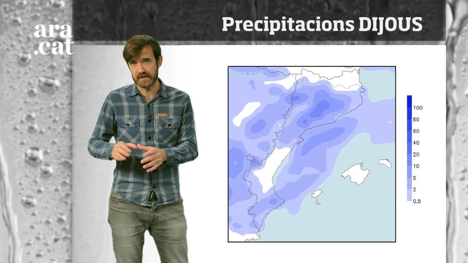 Méteo especial: pluges extenses, nevades i algunes tempestes