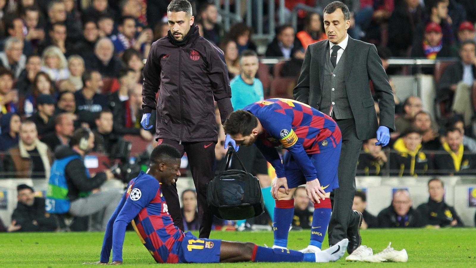 Ousmane Dembélé i Leo Messi