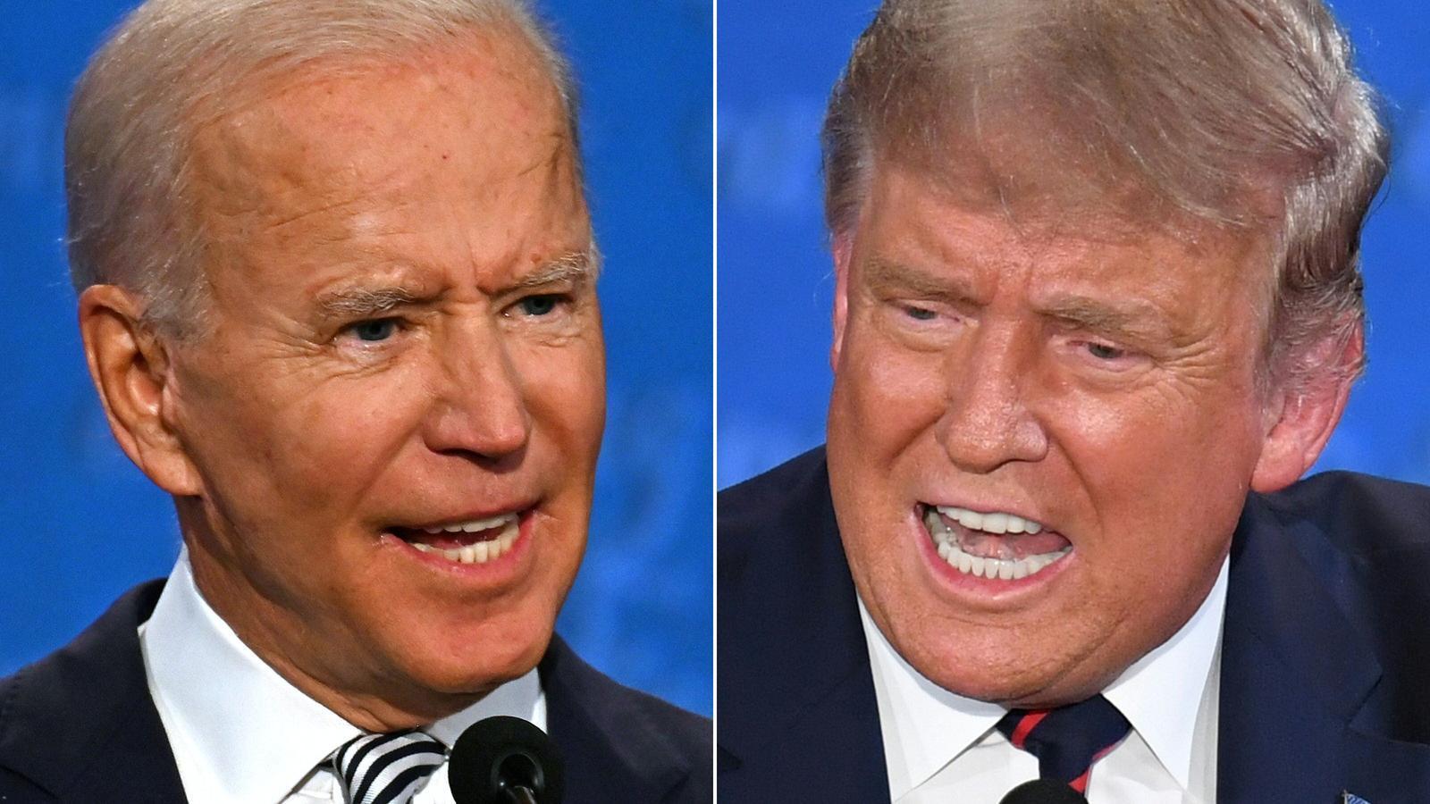 Trump fa del debat presidencial un xou per als seus fanàtics, però Biden en surt il·lès
