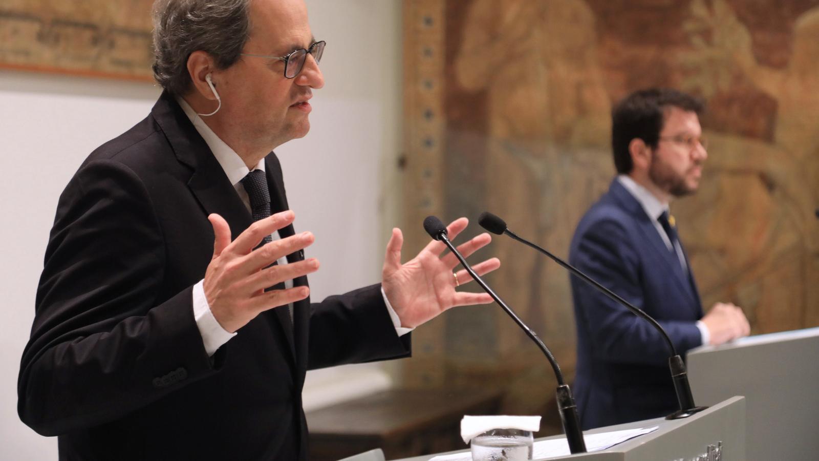 EN DIRECTE | Torra i aragonès expliquen la reacció del Govern al revés judicial contra el  confinament del Segrià