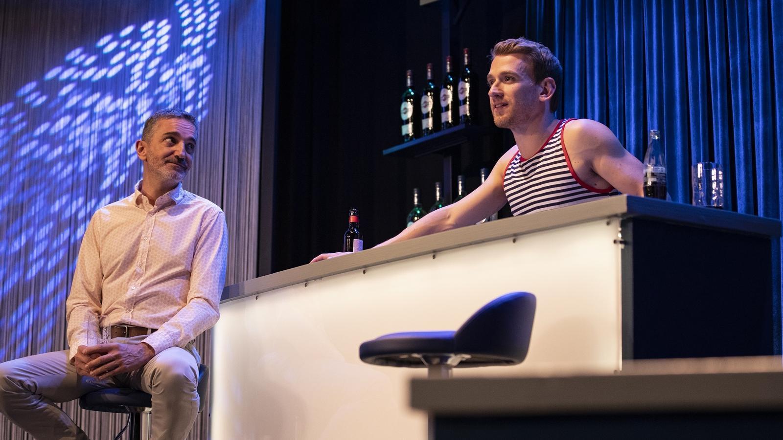 Albert Triola (a l'esquerra) i Ramon Pujol es tornen a posar dins la pell del Bruno i l'Àlex a 'Smiley. Després de l'amor'