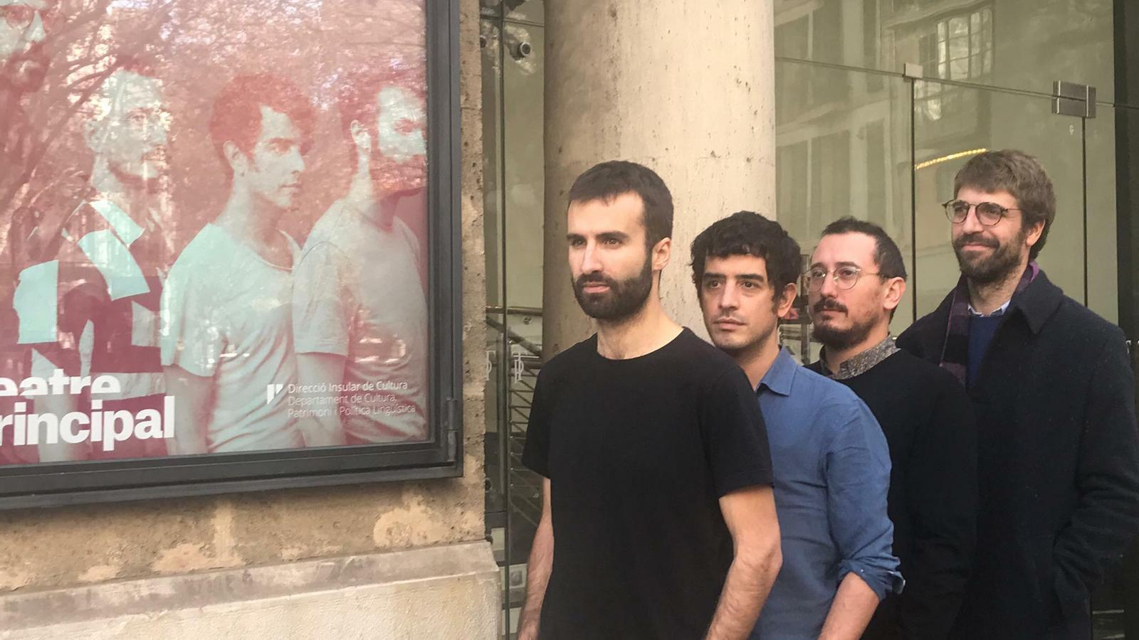 Martí Maymó, Roger Padilla, Arnau Vallvé i Guillem Gisbert aquest dijous a Palma