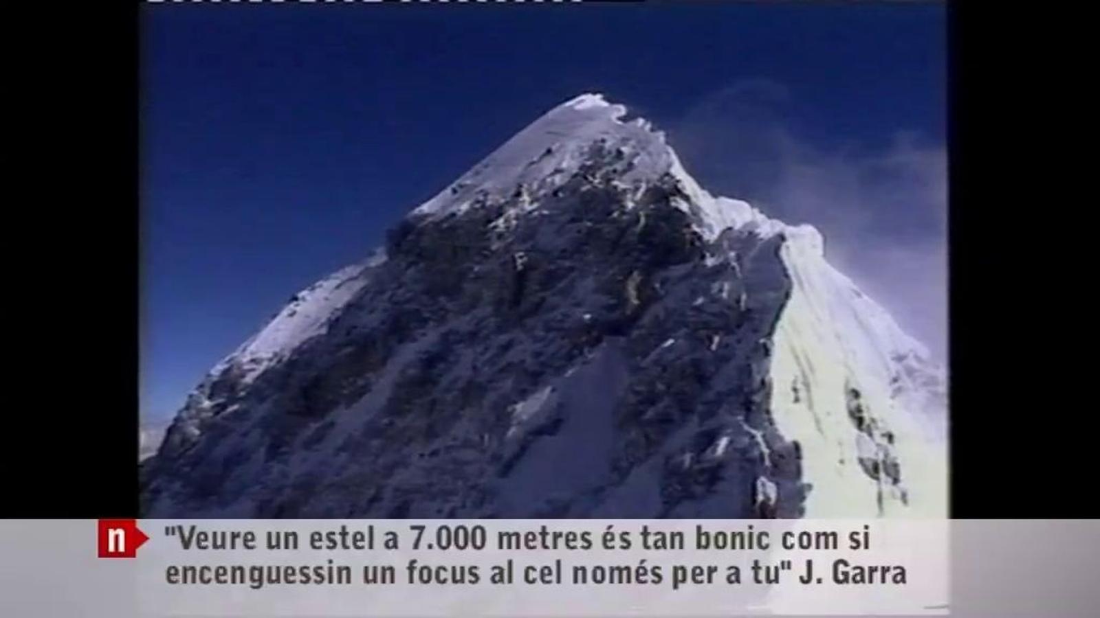 Televisió de Lleida ret homenatge a l'alpinista Juanjo Garra amb un emotiu vídeo