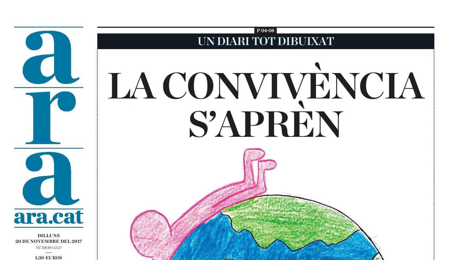 """""""La convivència s'aprèn"""", portada de l'ARA"""