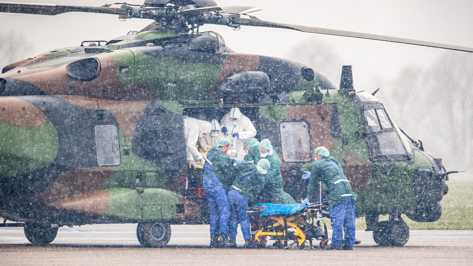 Un avió militar traslladant un malalt italià de coronavirus a un hospital alemany