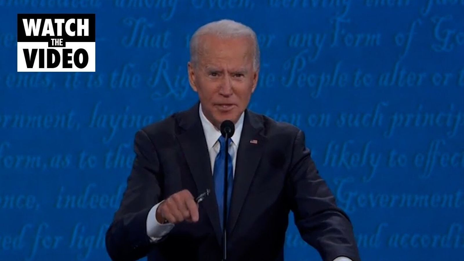 Intervenció sobre covid-19 en l'últim debat prediencial entre Donald Trump i Joe Biden.