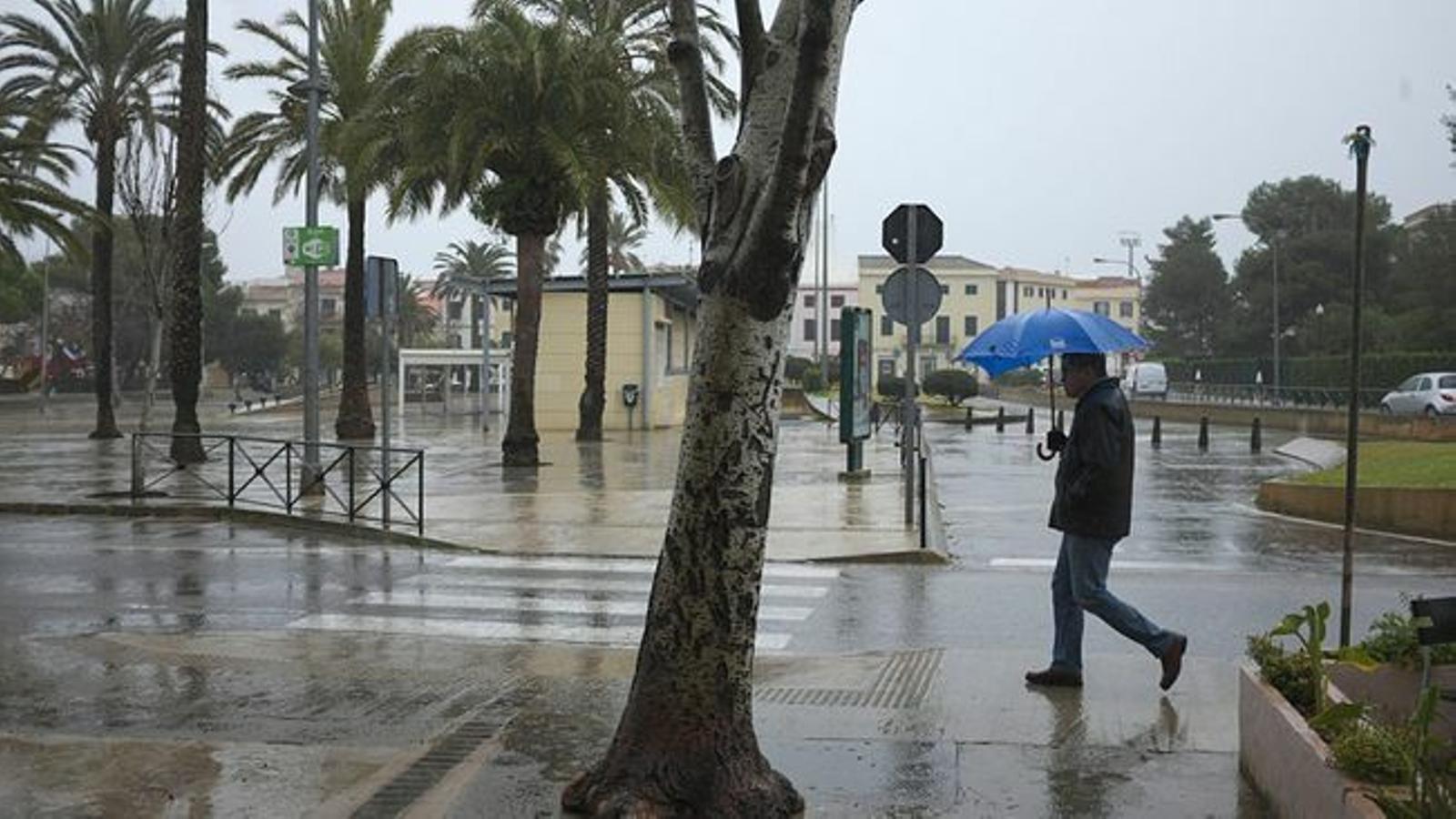 Dia de pluja a Menorca