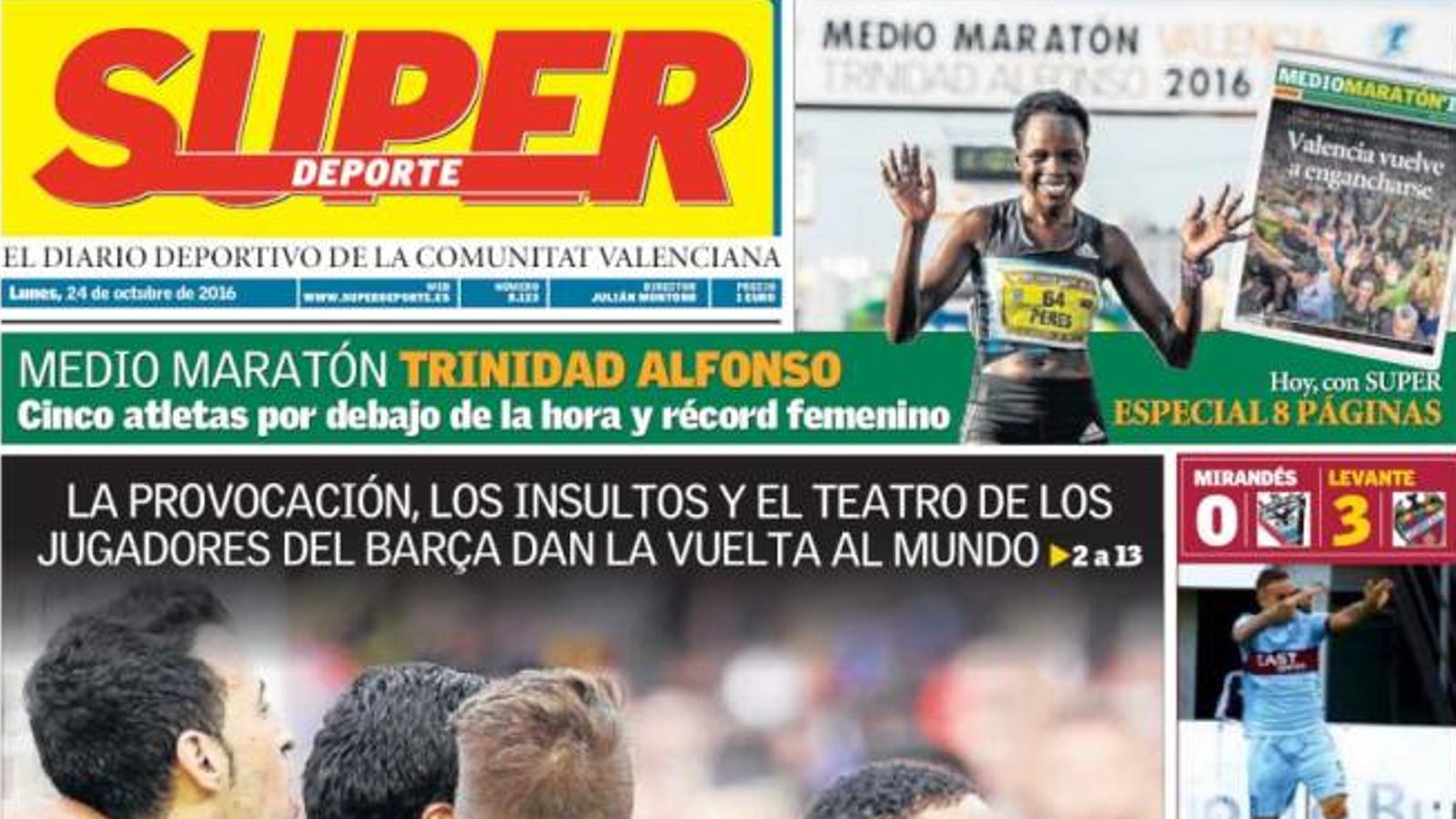 "El diari valencià Superdeporte arremet contra el Barça: ""Farça"""