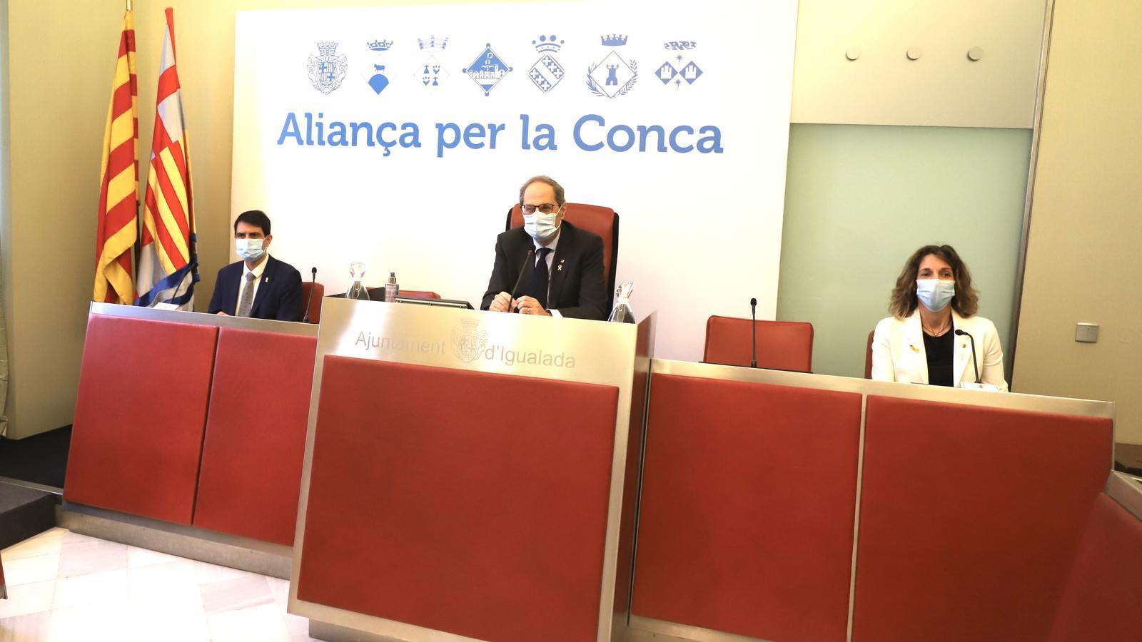 Roda de premsa del president Quim Torra des d'Igualada