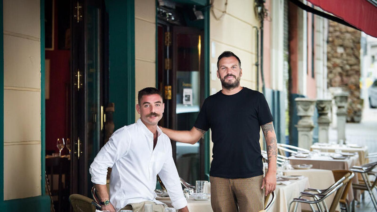Massimo Colombo amb l'altre soci del Xemei Pippo Rossi