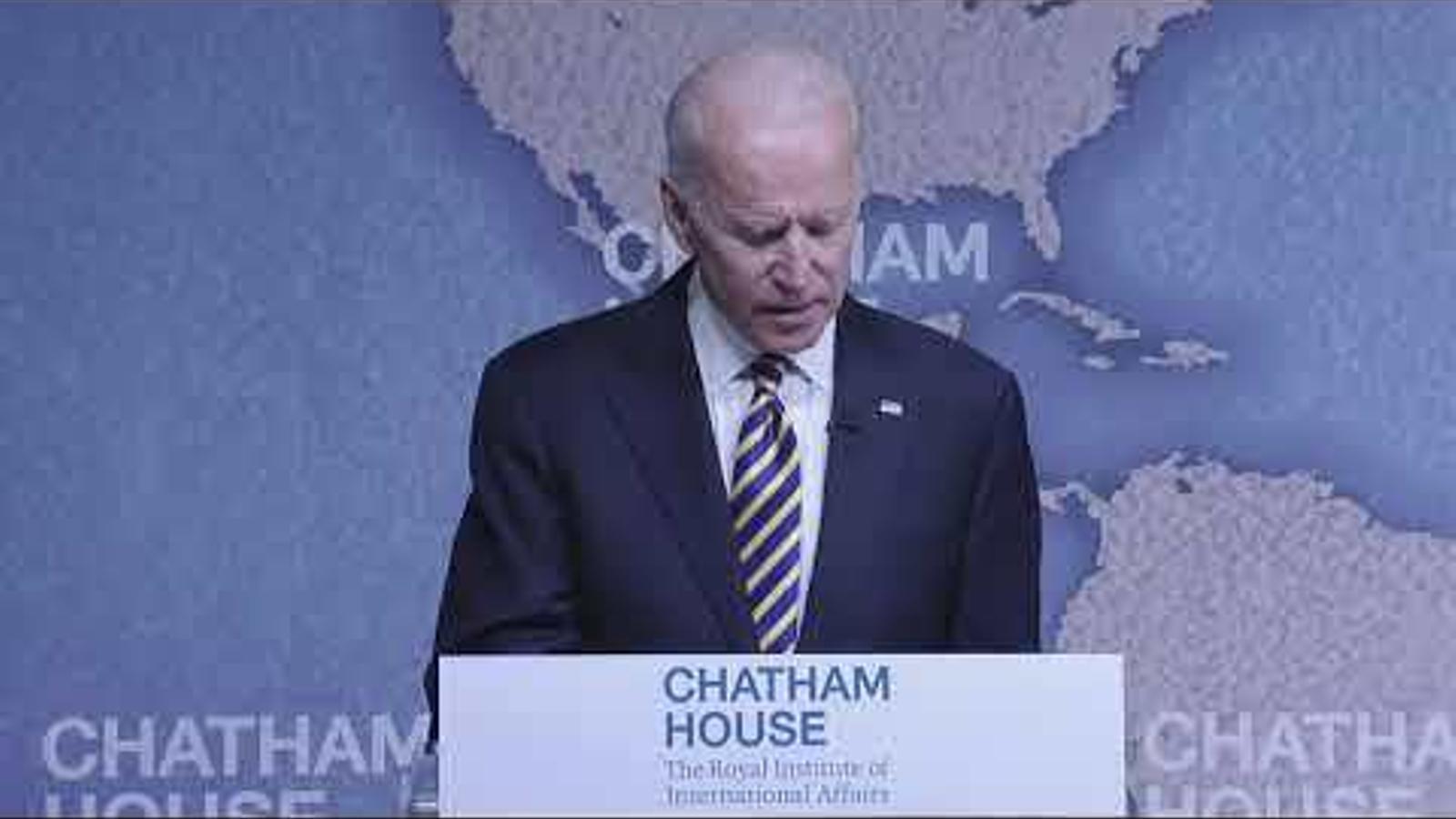 Joe Biden a la Chatham House, octubre del 2018
