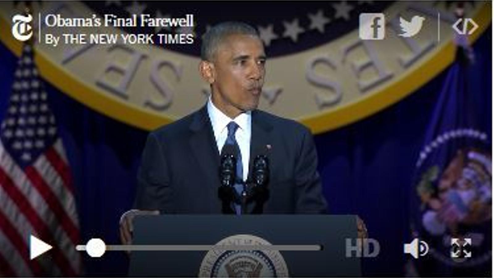 Les millors frases del discurs de comiat d'Obama