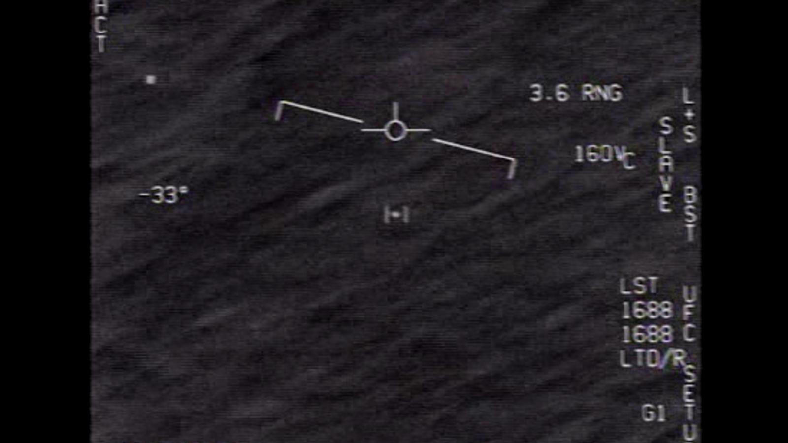 Vídeo publicat pel Pentàgon d'un objecte volador ni identificat.