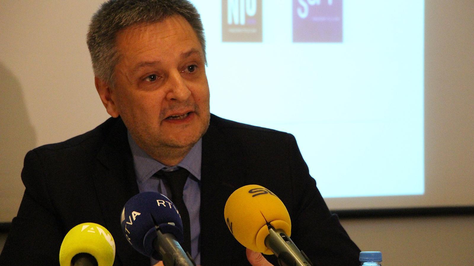 El ministre d'Economia, Competitivat i Innovació, Gilbert Saboya, avala la creació d'una plataforma d'inversors. / B. N.