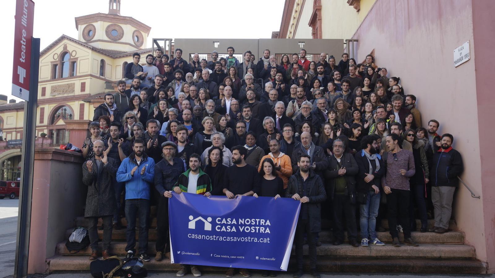 La iniciativa Casa Nostra Casa Vostra pretén denunciar la situació que pateixen els refugiats / PERE TORDERA