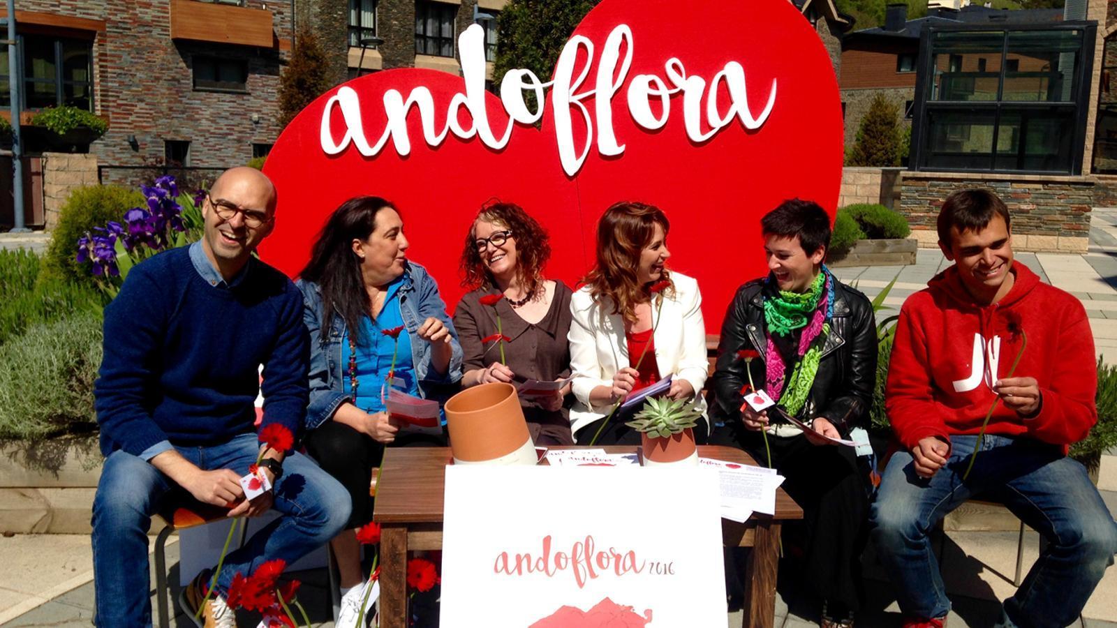 Un moment de la presentació de l'Andoflora d'aquest any