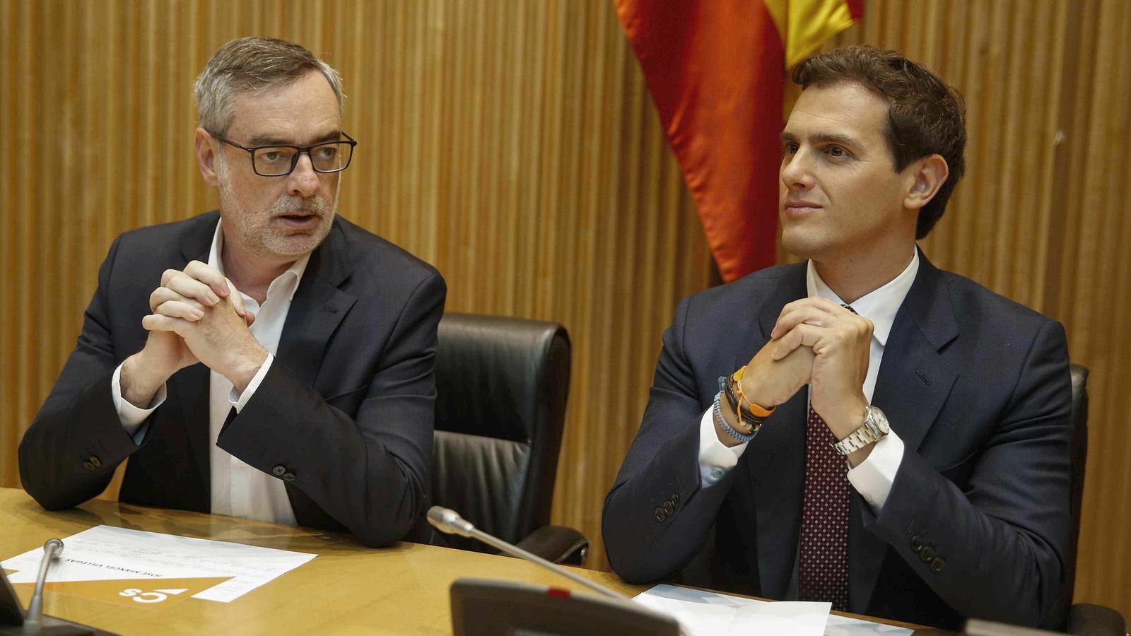 Villegas i Rivera, de Ciutadans, en una imatge d'arxiu.