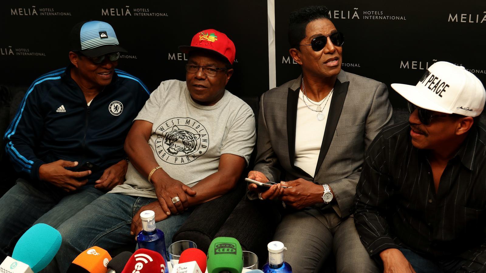 The Jacksons a la roda de premsa./ ISMAEL VELÁZQUEZ