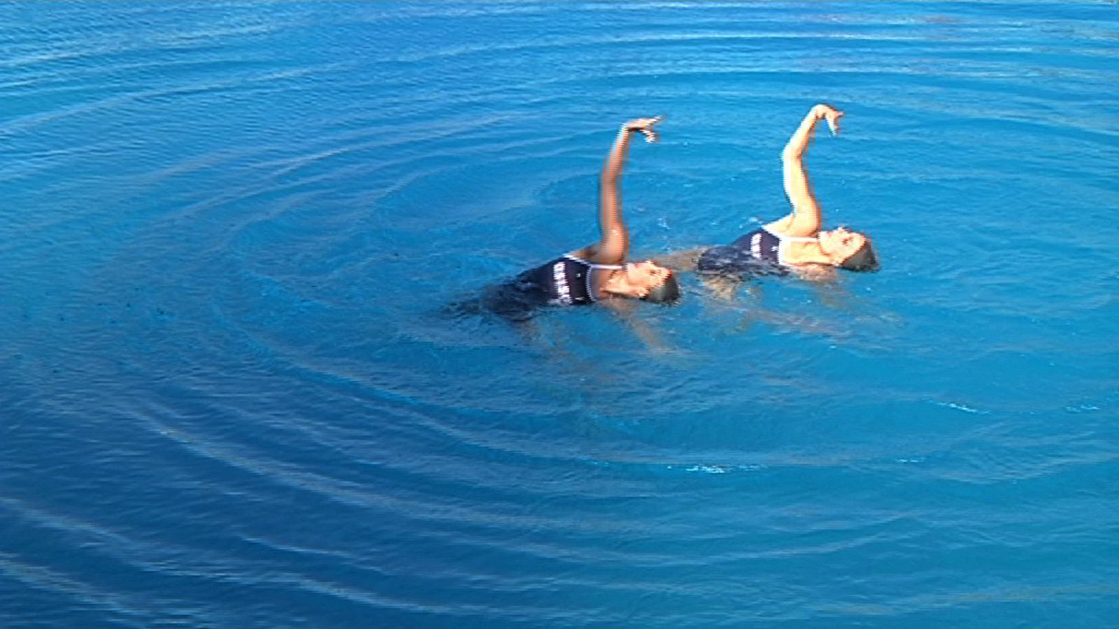 La coreografia d'Andrea Fuentes i Ona Carbonell per als Jocs Olímpics de Londres en categoria duo