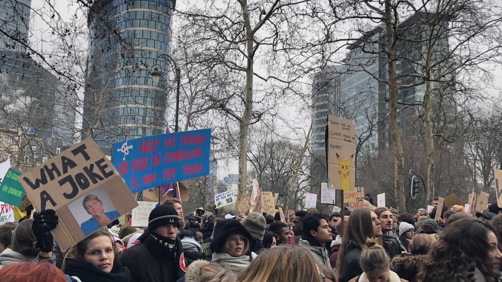 Manifestació del moviment 'Youth for Climate' a Brussel·les