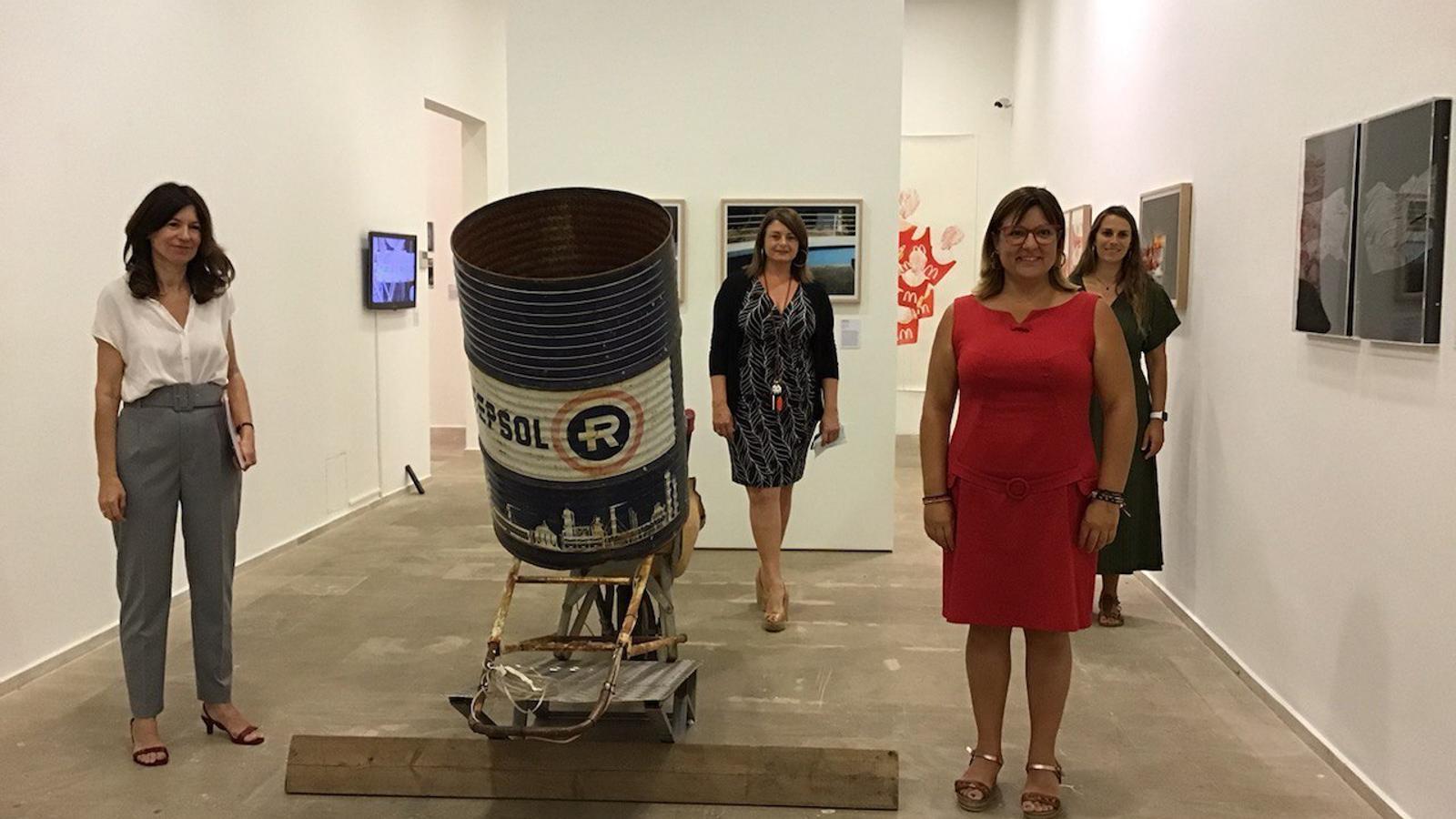 Imatge de la inauguració de 'Circulació perifèrica', aquest dilluns al Centre Cultural Sa Nostra
