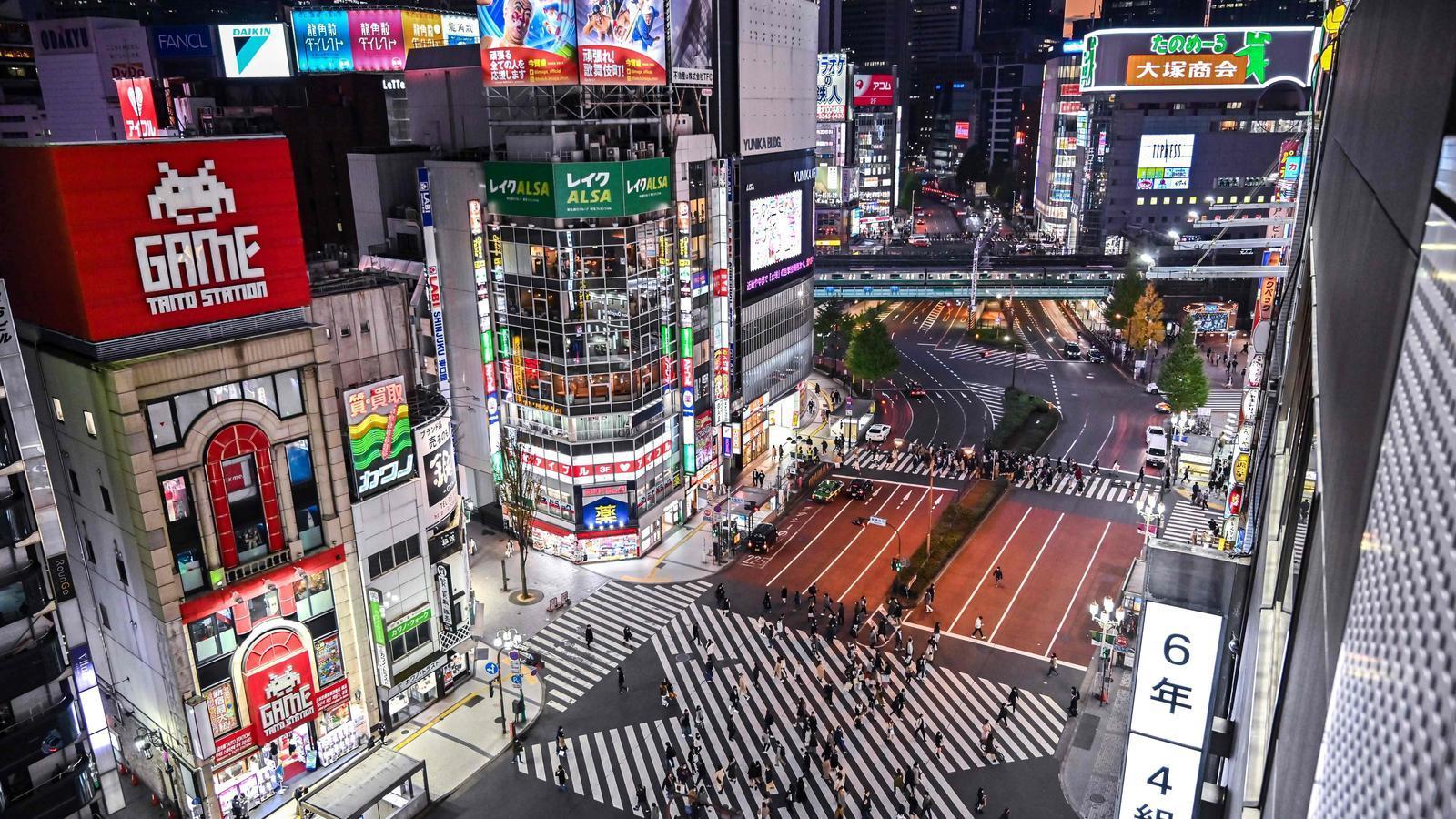 Vianants al centre de Tòquio, aquest diumenge