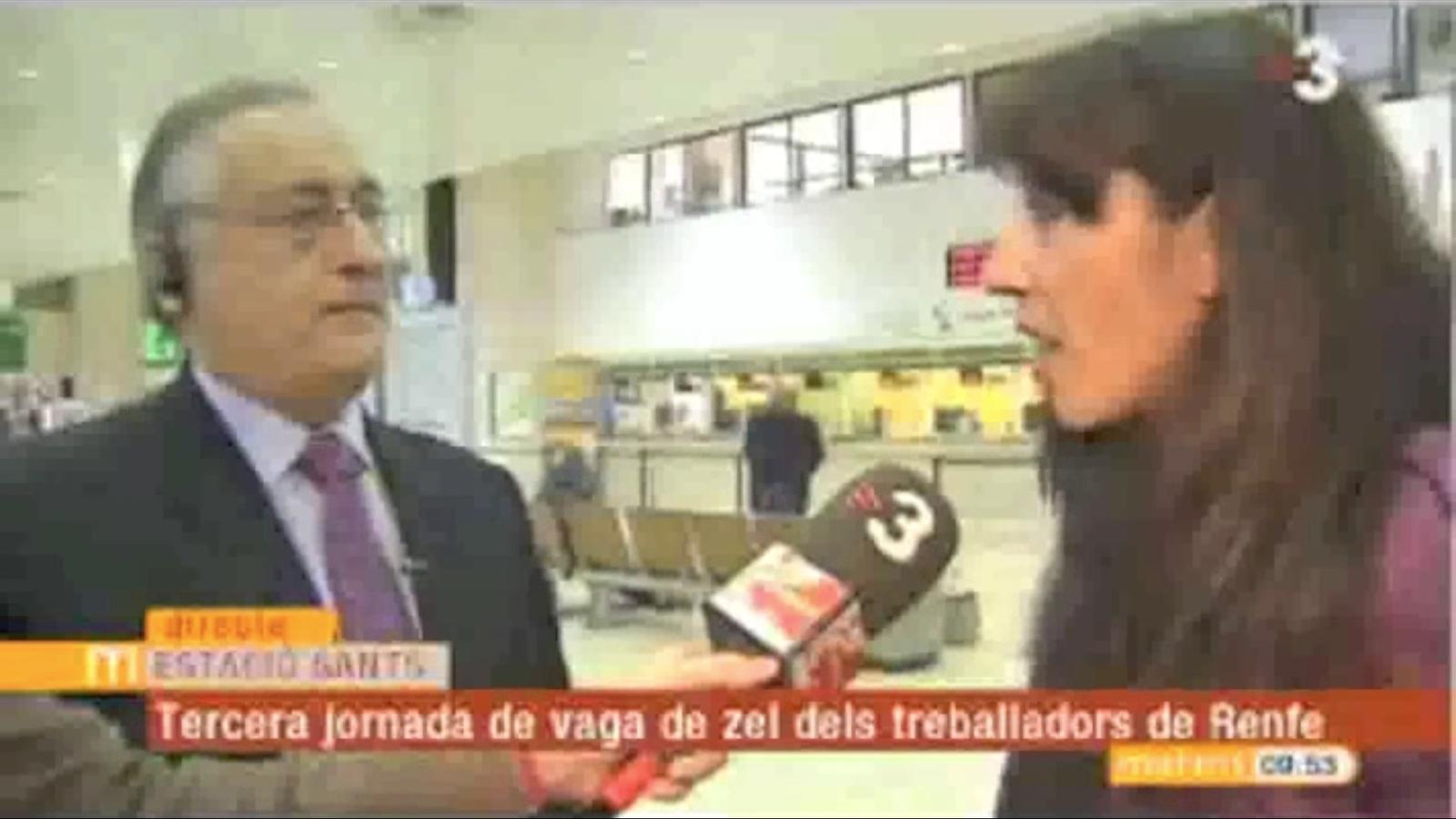 Ciutadana Elisenda contra director general de Renfe. Arbitra Josep Cuní