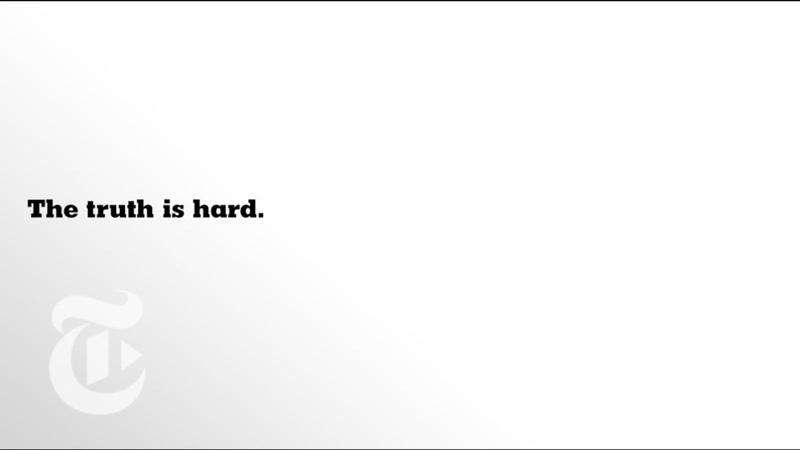 """""""La veritat ara és més important que mai"""" eslògan de l'anunci de 'The New York Times'"""