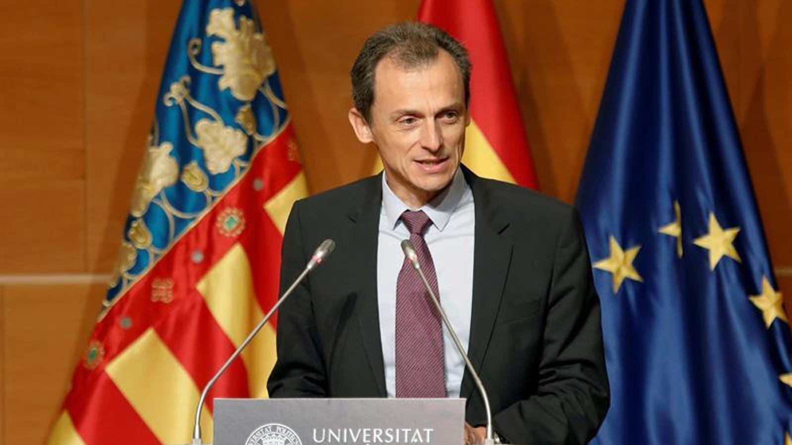 El ministre de Ciència, Innovació i Universitats, Pedro Duque.