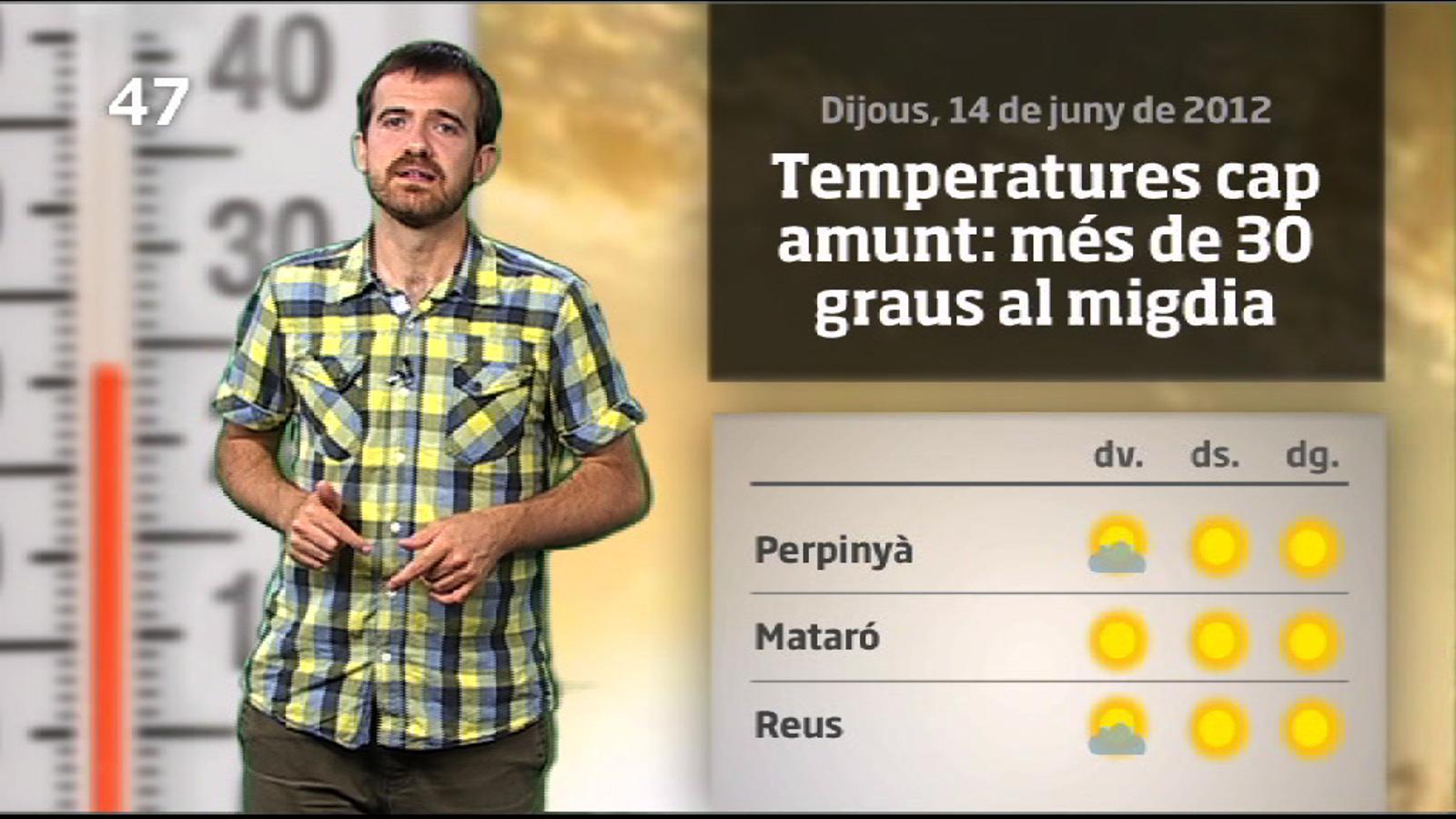 La méteo en 1 minut: s'acosta un cap de setmana d'estiu (15/06/2012)