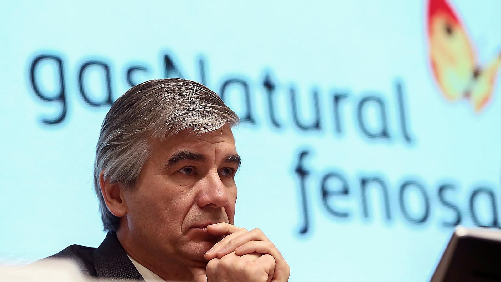 Reynés ahir en la seva primera presentació de resultats de Gas Natural.