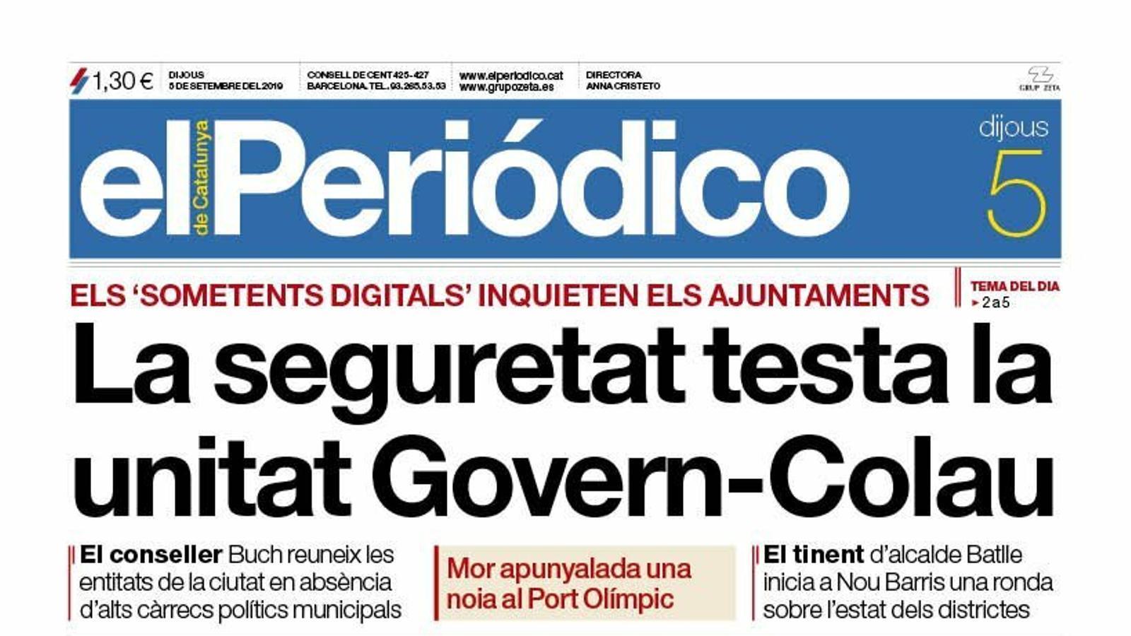 portada periodico 05/09/19