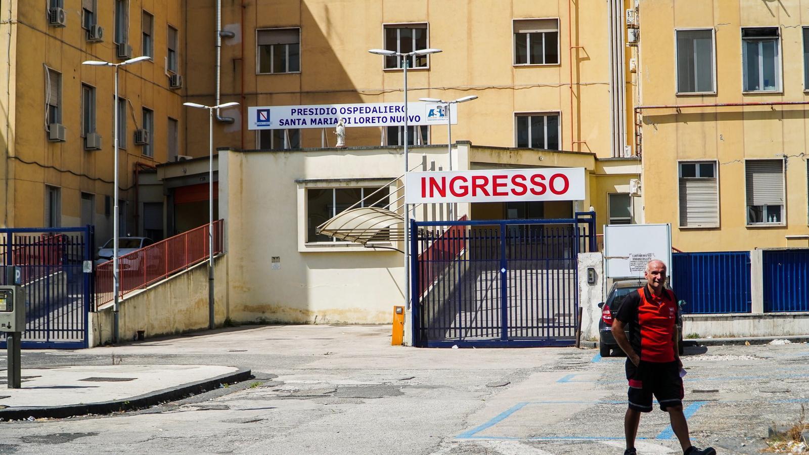 L'exterior de l'hospital Loreto Mare on s'han registrat els primers quatre ingressos aquest matí a la unitat de Covid