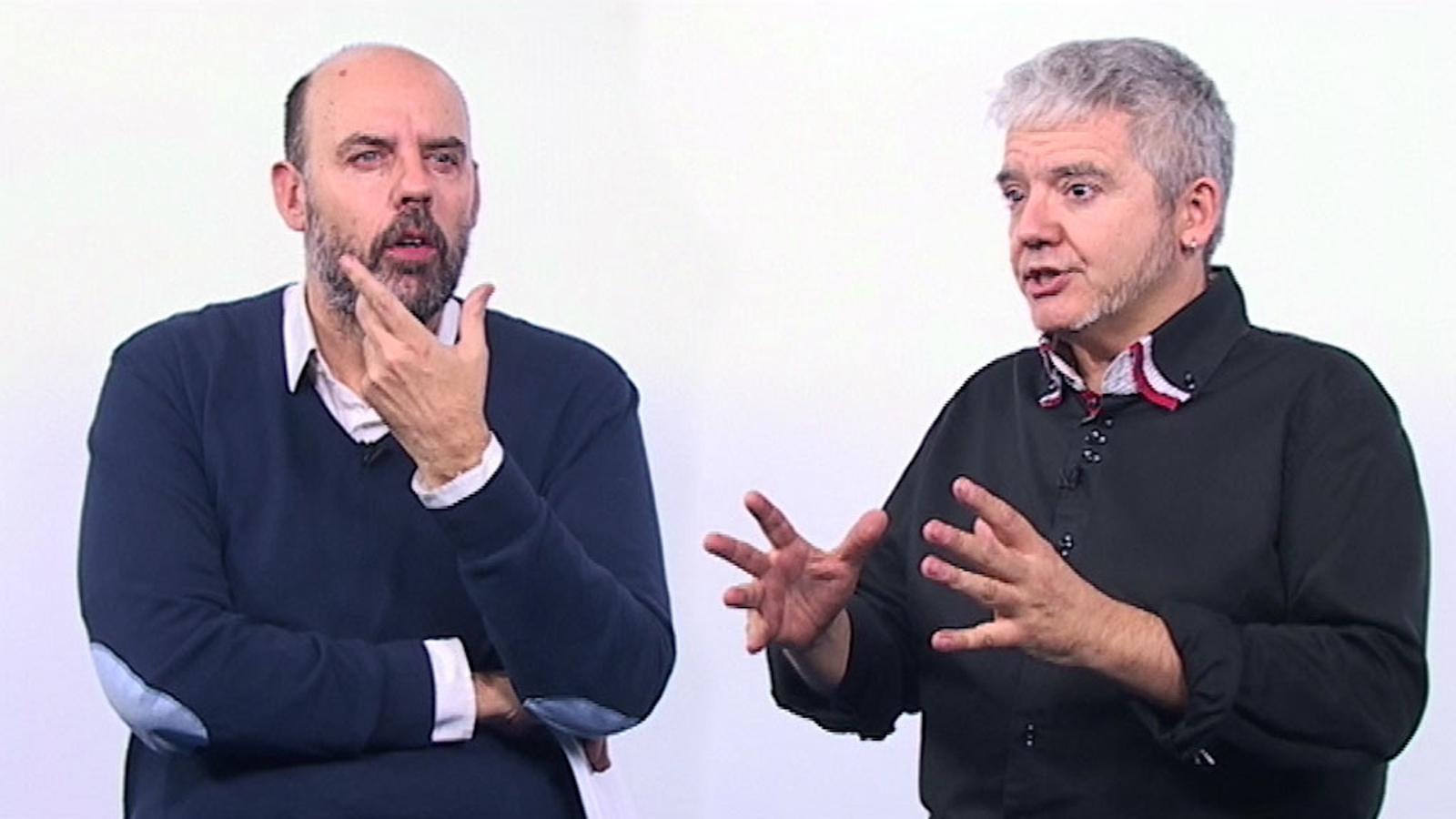 Màrius Serra i Jordi Basté expliquen els seus contes del llibre de La Marató
