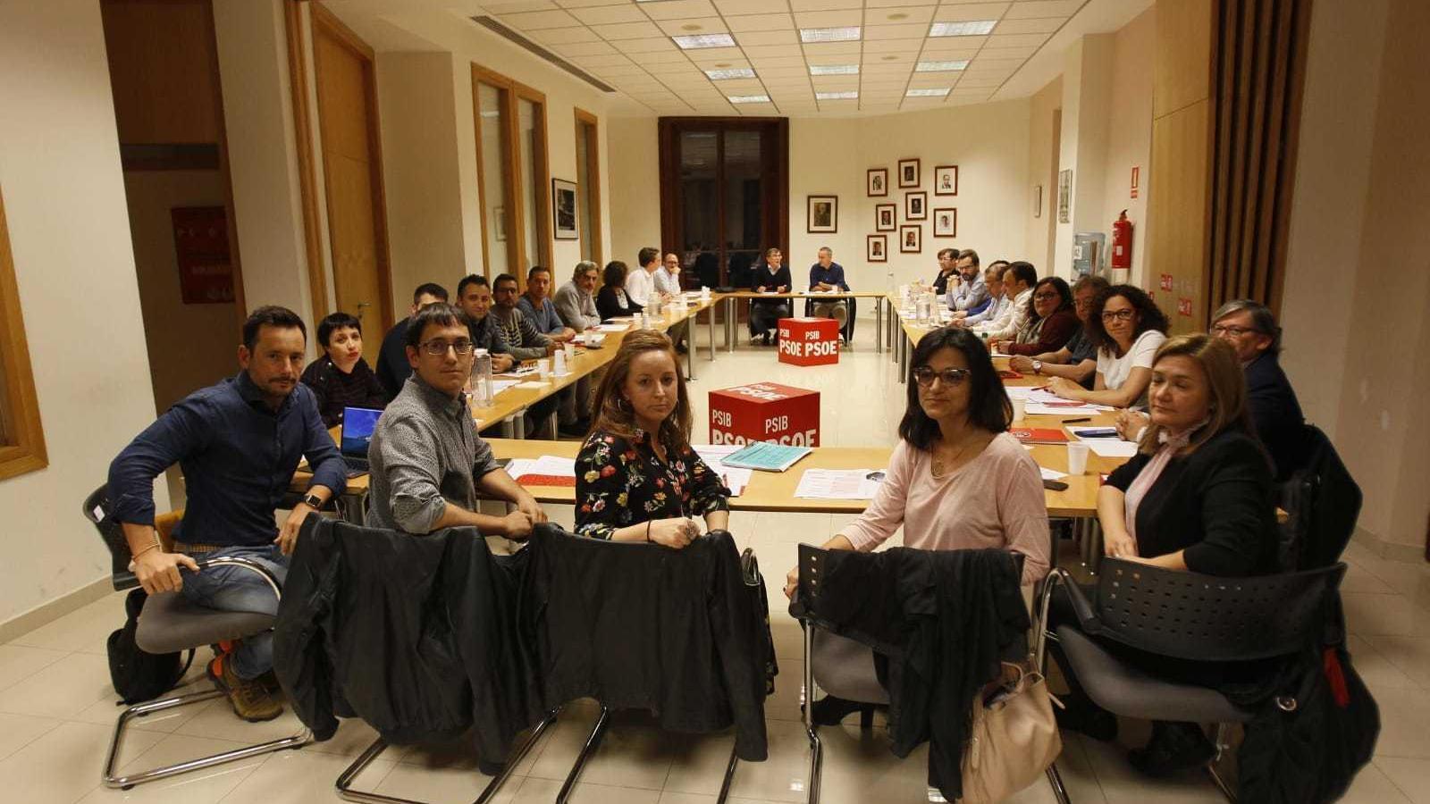 Imatge de la reunió d'aquest dilluns de la comissió executiva del PSIB.