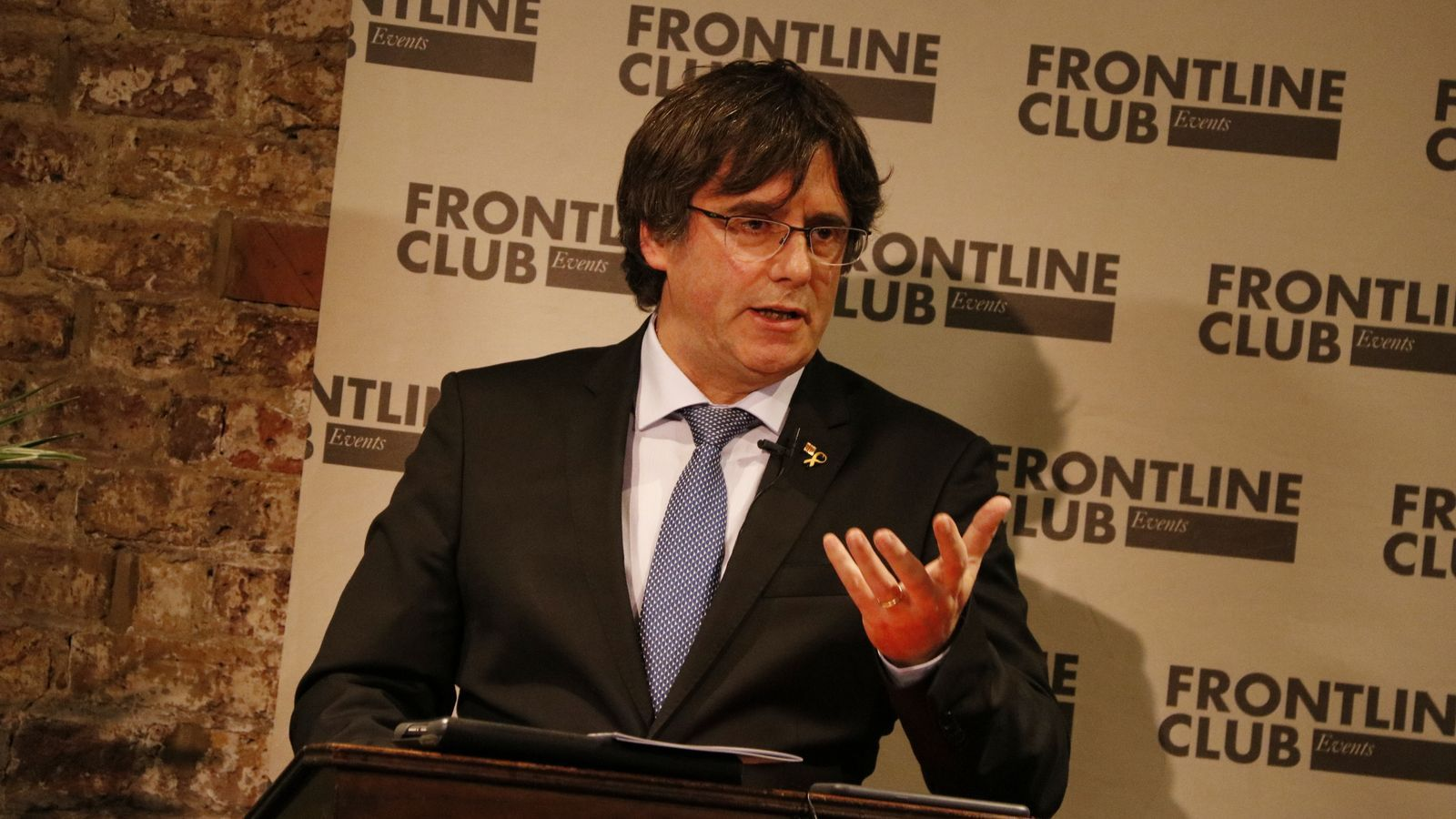 Carles Puigdemont, a Londres