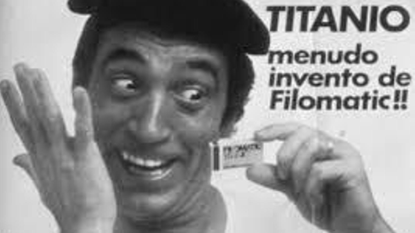 L'humorista Miguel Gila durant un anunci de Filomatic.