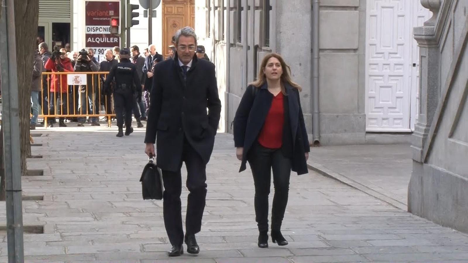 Marta Pascal arriba a declarar al Tribunal Suprem