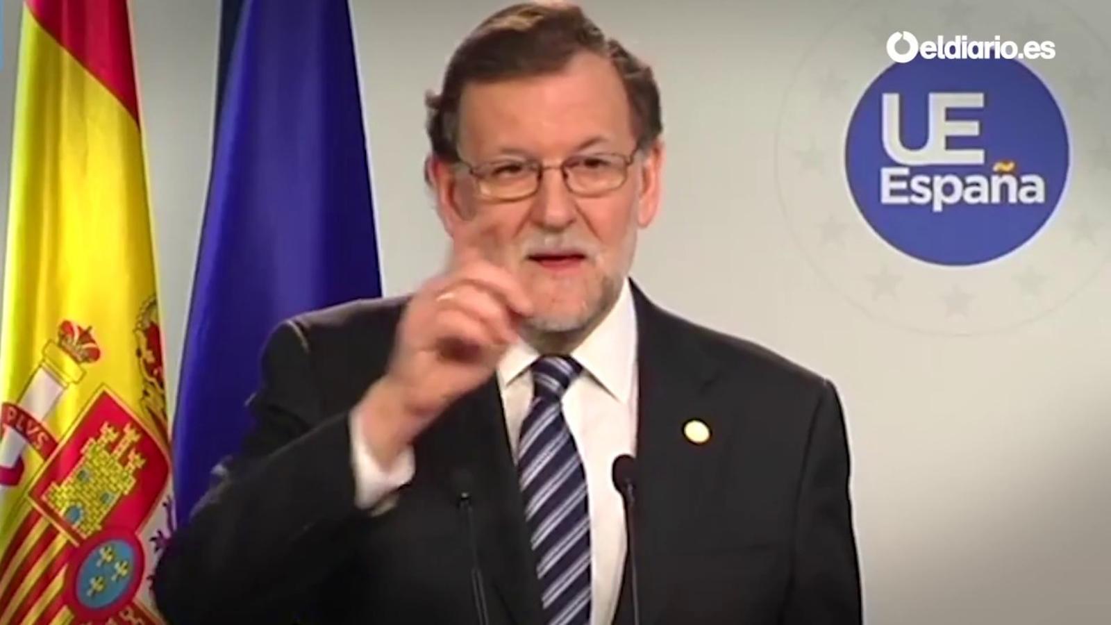 Rajoy ignora un periodista de la BBC perquè li fa una pregunta en anglès