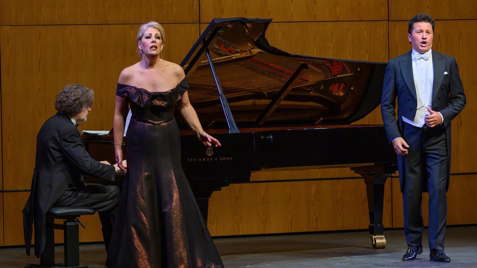 Sondra Radvanovsky i Piotr Beczala durant el recital d'aquest diumenge