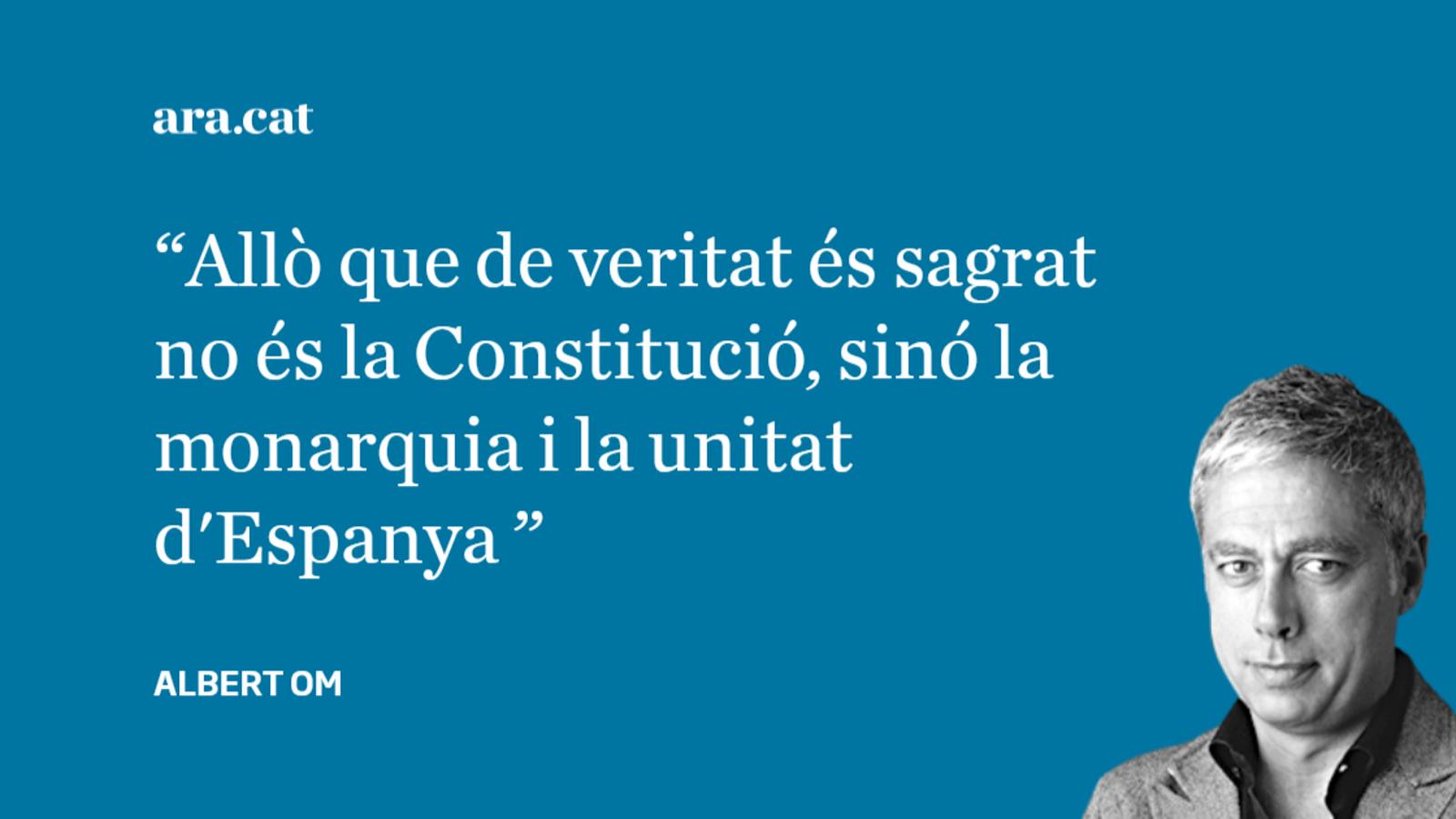 """Carta a Miquel Roca: """"No és la Constitució, estúpids!"""""""