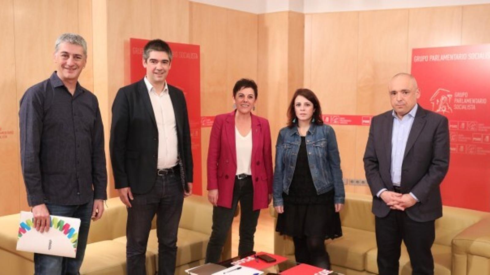 Representants del PSOE i EH Bildu, en una imatge d'arxiu