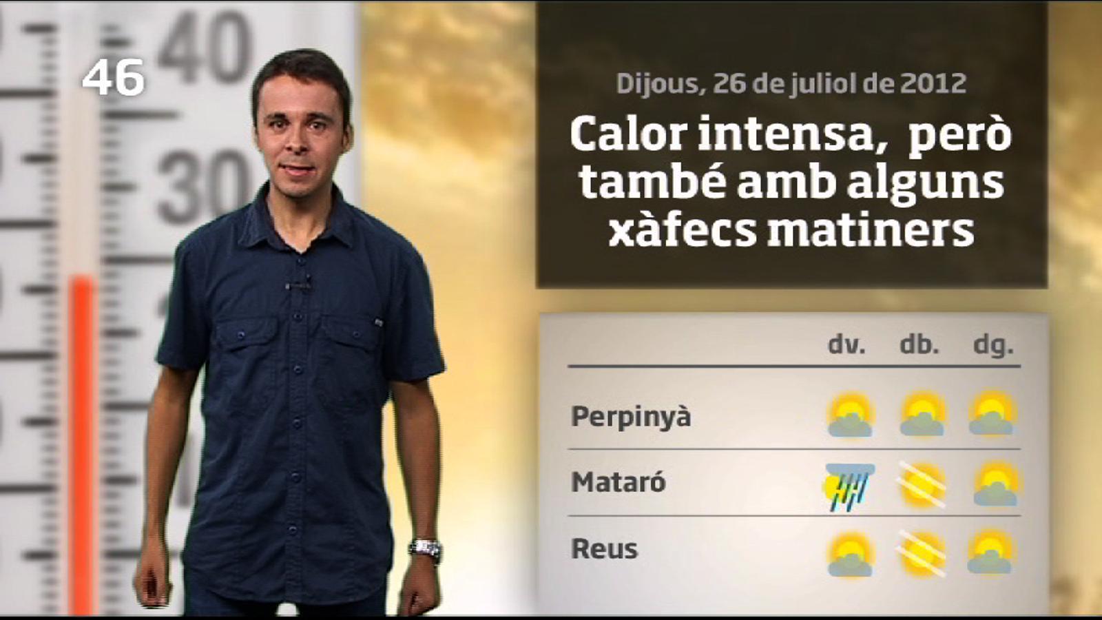 La méteo en 1 minut: calor i quatre gotes de fang (27/07/2012)
