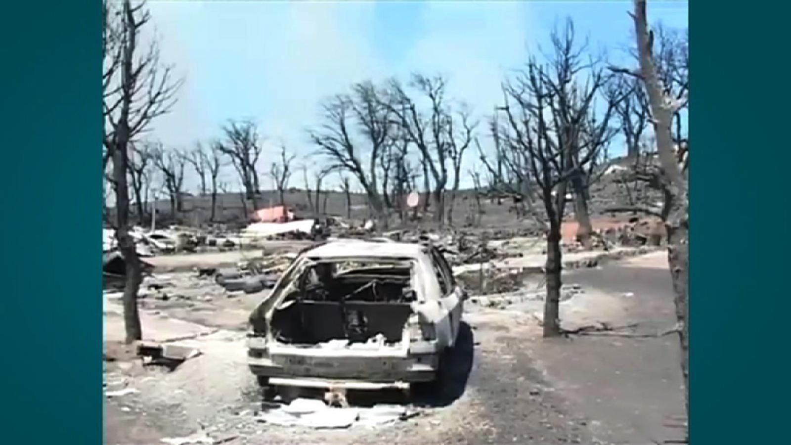 Un turista afectat pel foc: Estem vius, és important