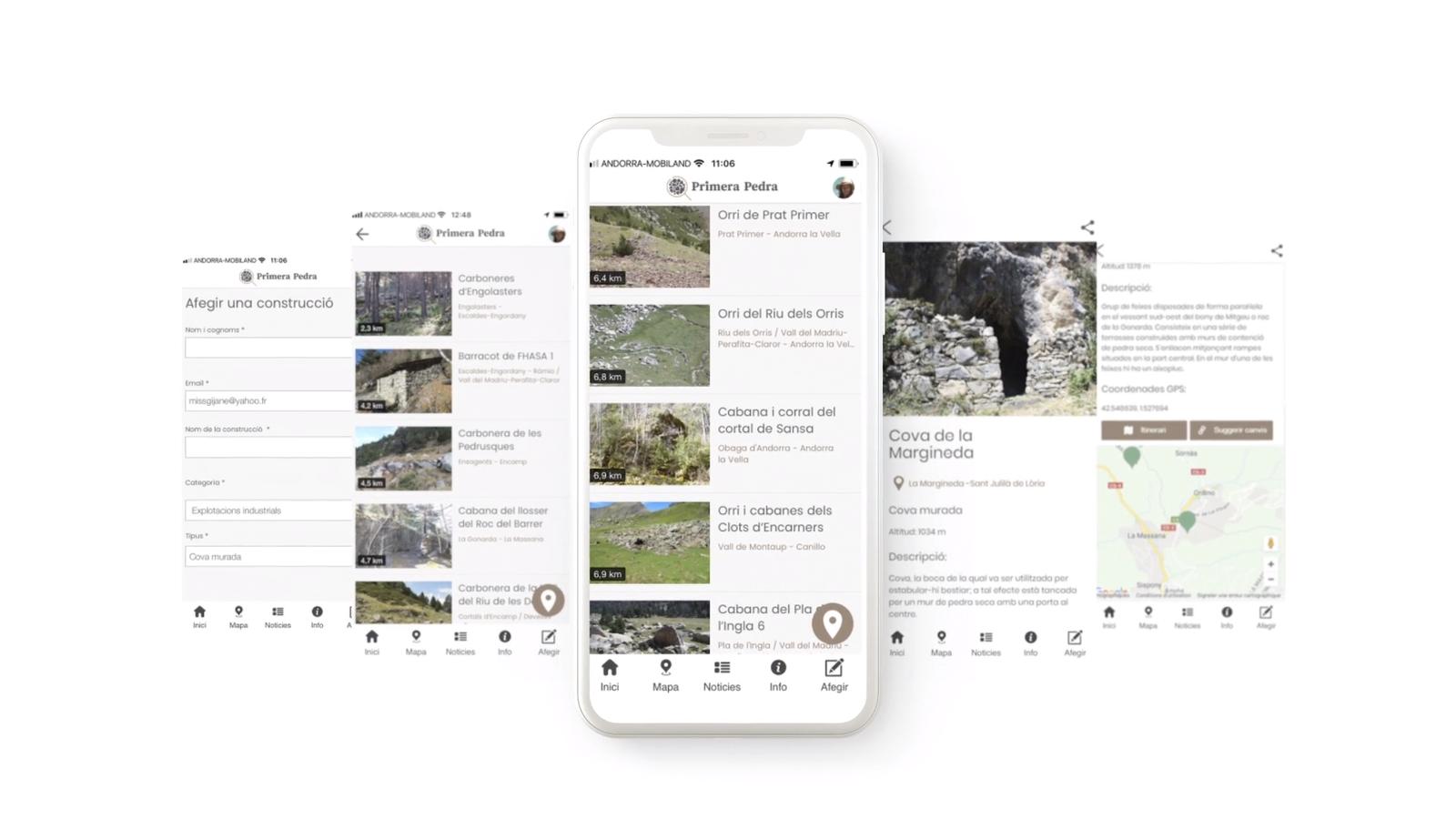 La nova aplicació mòbil que recull el projecte 'Primera Pedra'